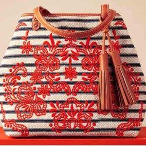 NWT Isabella Fiore Embroidered Tote Handbag